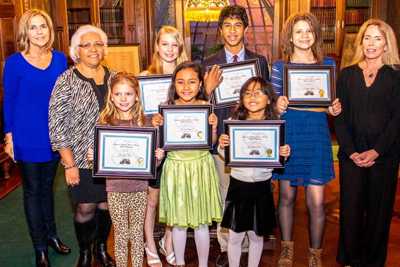Young Writing Competition Award Winners at the Lockwood Mathews Mansion Museum