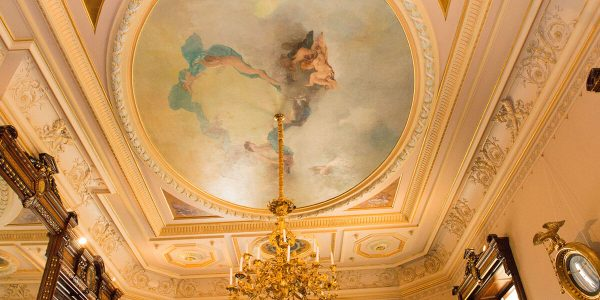 Drawing Room Ceiling Courtesy of Sarah Grote Photography