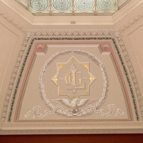 Cove Ceiling of the Lockwood-Mathews Mansion Museum's Rotunda Courtesy of Sarah Grote Photography