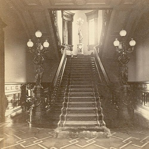 Lockwood-Mathews Mansion Museum Rotunda and Grand Staircase