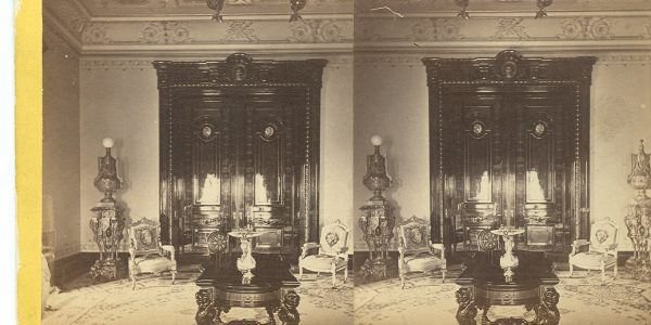 Whitney & Beckwith Stereoscopic Photograph of the Drawing Room