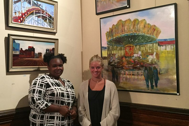 Summer 2016 Internship Participants Daneesha and Nina at the Lockwood-Mathews Mansion Museum